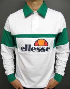 Rugbyshirt white-green