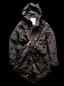 FISHTAIL PARKA carbone