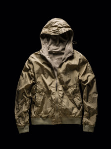 HOODED BOMBER – REVERSIBLE beige