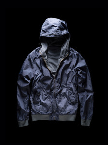 HOODED BOMBER – REVERSIBLE blue
