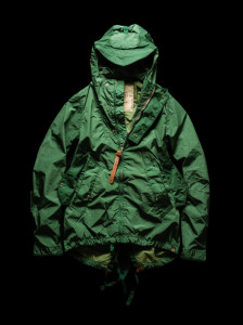 Short Parka green