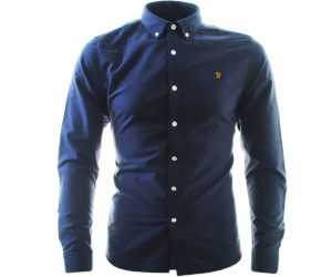 Farah Brewer L:S Shirt Navy
