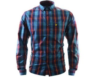 Lyle & Scott L:S Tartan Shirt New Navy