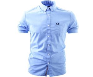 Fred Perry End On End Pocket Shirt Turquoise