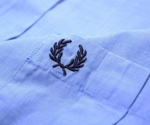 Fred Perry End On End Pocket Shirt Turquoise2