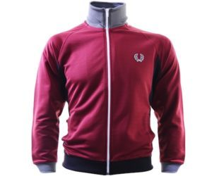 Fred Perry Side Panel Track Top Maroon