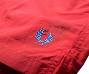 Fred Perry Swim Shorts Wallace Red2