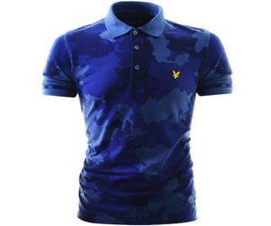 Lyle & Scott Camo Polo Shirt True Blue