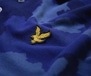 Lyle & Scott Camo Polo Shirt True Blue2