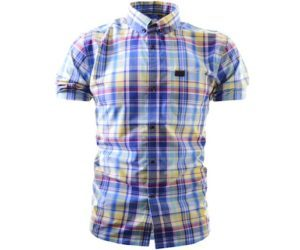 Marshall Artist Tradesman's Shirt Navy Madras