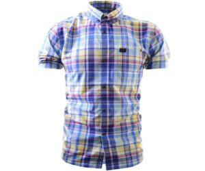 Marshall Artist Tradesman's Shirt Navy Madras