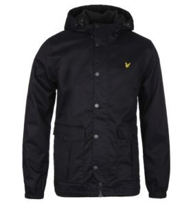 LYLE & SCOTT VINTAGE TRUE BLACK MICROFLEECE LINED JACKET
