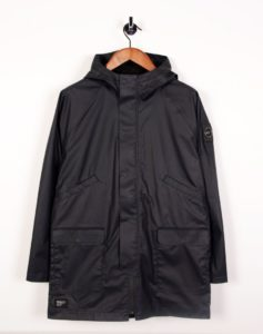 TECHNICAL HOODED MAC NAVY BLUE