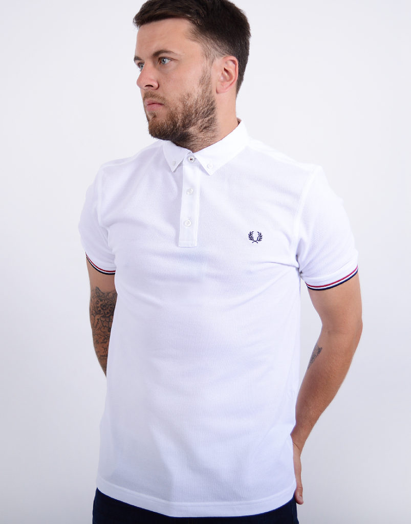 Fred Perry Woven Collar Polo