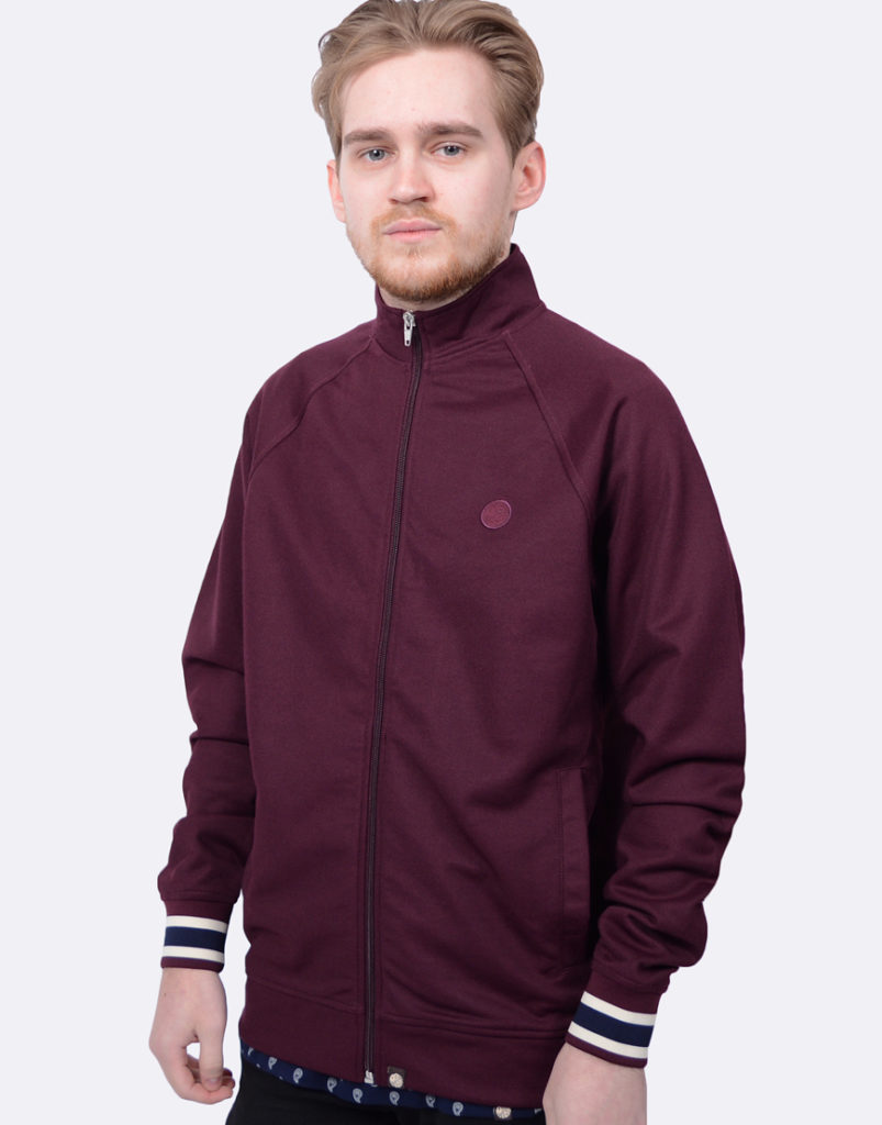 Pretty Green Forston Track Top Burgundy