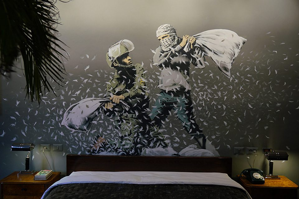 The Walled Off Hotel by Banksy