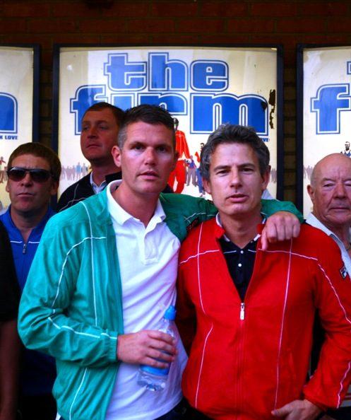 """Nick Love und Neil Primett bei der Premiere von """"The Firm"""""""