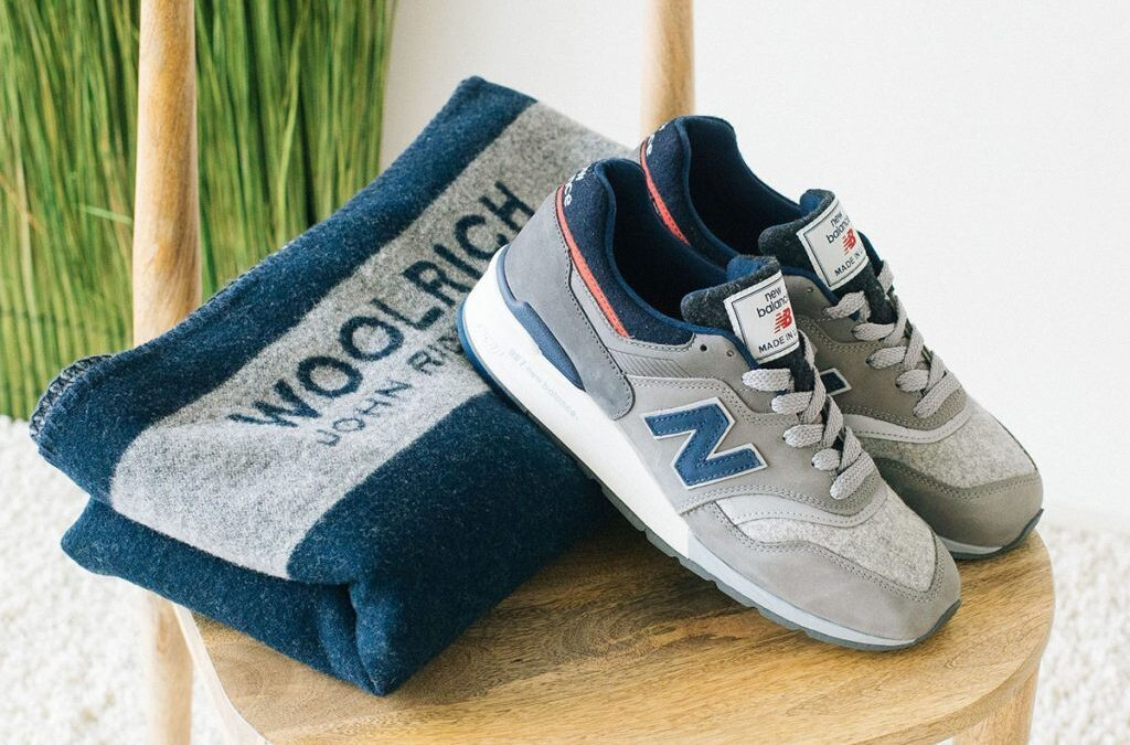 New Balance X Woolrich präsentieren den 997 mit passender Wolldecke